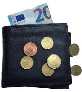 mijndrukker.nl portemonnee met 20 euro en losse munten