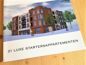 Digitale Zilverfolie ... brochures voor RTL Appartementen. 21 luxe startersappartementen