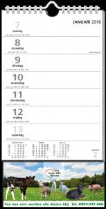 mijndrukker.nl Weekkalender S. Bescheiden uitstraling met nette opmaak voor elke gebruiker.