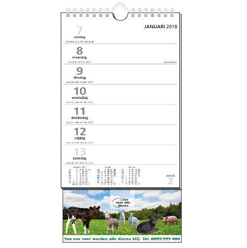 mijndrukker.nl Weekkalender Standaard uitgelicht