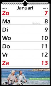 mijndrukker.nl Weekkalender XL. Simpele maar duidelijke opmaak voor grotere afstanden.