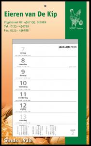 mijndrukker.nl Weekscheurkalender Groot. Bescheiden calendarium met veel ruimte voor 'exposure'.