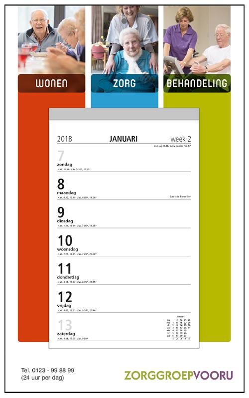 mijndrukker.nl Weekscheurkalender Klein. Kleiner calendarium met veel ruimte voor 'exposure'.