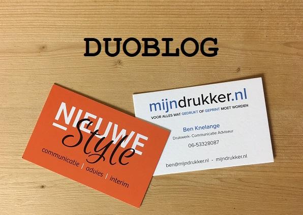 Duoblog Nieuwe Style + mijndrukker.nl