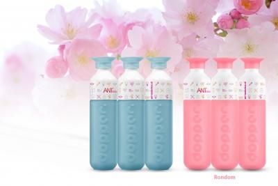 Voor ANT produceerde mijndrukker.nl deze fraaie Doppers met een bedrukking die helemaal rondom de fles loopt.