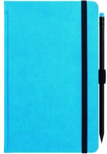 mijndrukker.nl Designer Notebooks Custom Made blauw met potlood (6)