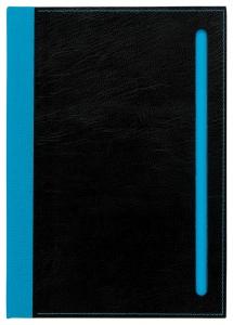 mijndrukker.nl Designer Notebooks Custom Made blauwe rug + sleuf (2)