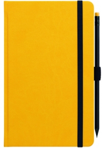 Designer Notebooks Custom Made geel met potlood (5)