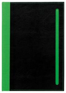 mijndrukker.nl Designer Notebooks Custom Made groene rug + sleuf(3)