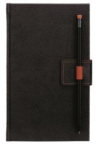mijndrukker.nl Designer Notebooks Custom Made met penlus op voorzijde en pen in oranje (12)