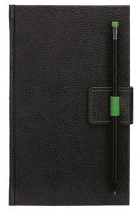 mijndrukker.nl Designer Notebooks Custom Made met penlus op voorzijde en potlood in groen (10)