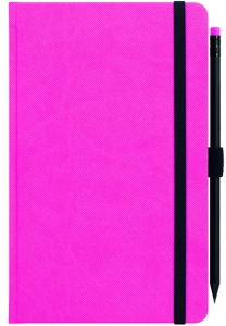 mijndrukker.nl Designer Notebooks Custom Made roze met potlood (8)