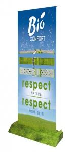 Van deze Roll-up Banners of Rolbanners kan ook de voet voorzien worden van bedrukking.