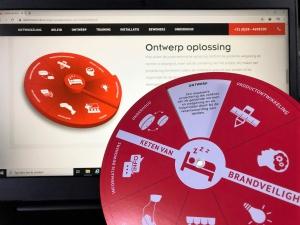 De online afbeelding van de schijf op de site door een Draaischijf van karton in het echt te maken.