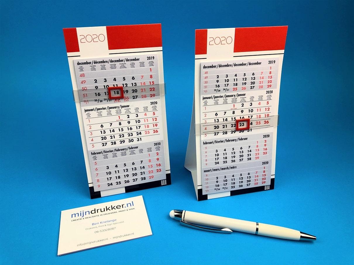Mini 3-Maands en 4-Maands Bureaukalendertjes
