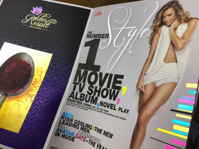 Koudfolie of Cold Foil werkt uitstekend op de Covers Van Brochures, magazines, Boeken etcetera