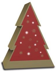 mijndrukker.nl Bijzondere Kerst Wijndoos Verpakking Rood met Goud Bedrukt