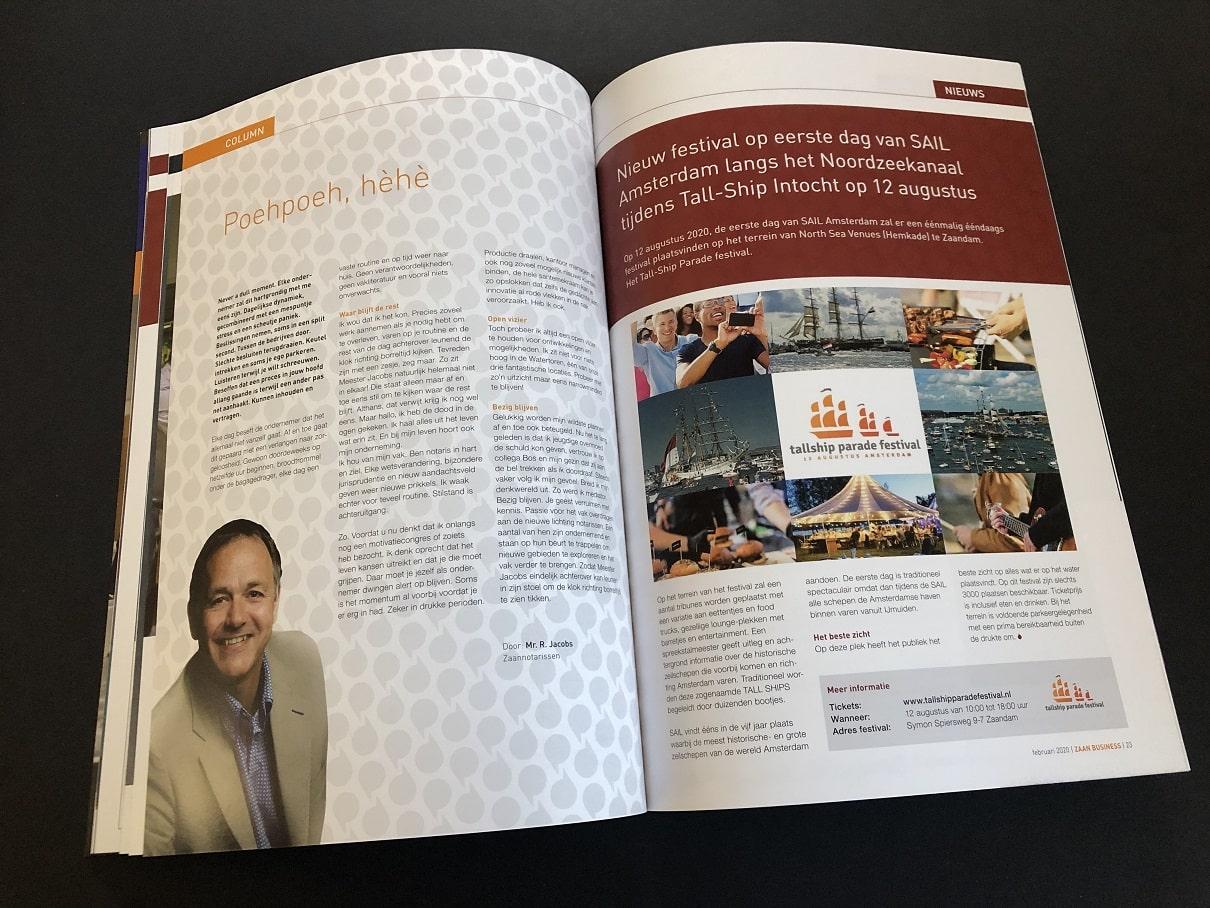 Zakelijke Bladen of bedrijfsbladen IJmondiaan Business en Zaan Business - vol prachtige interviews met gedreven ondernemers uit de Zaanstreek en de IJmond