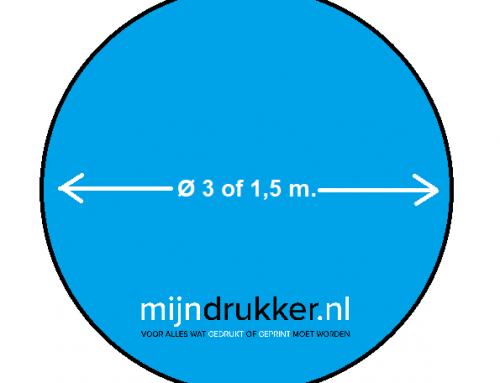 Ronde Bedrukte Vloercirkels 3 of 1,5 meter