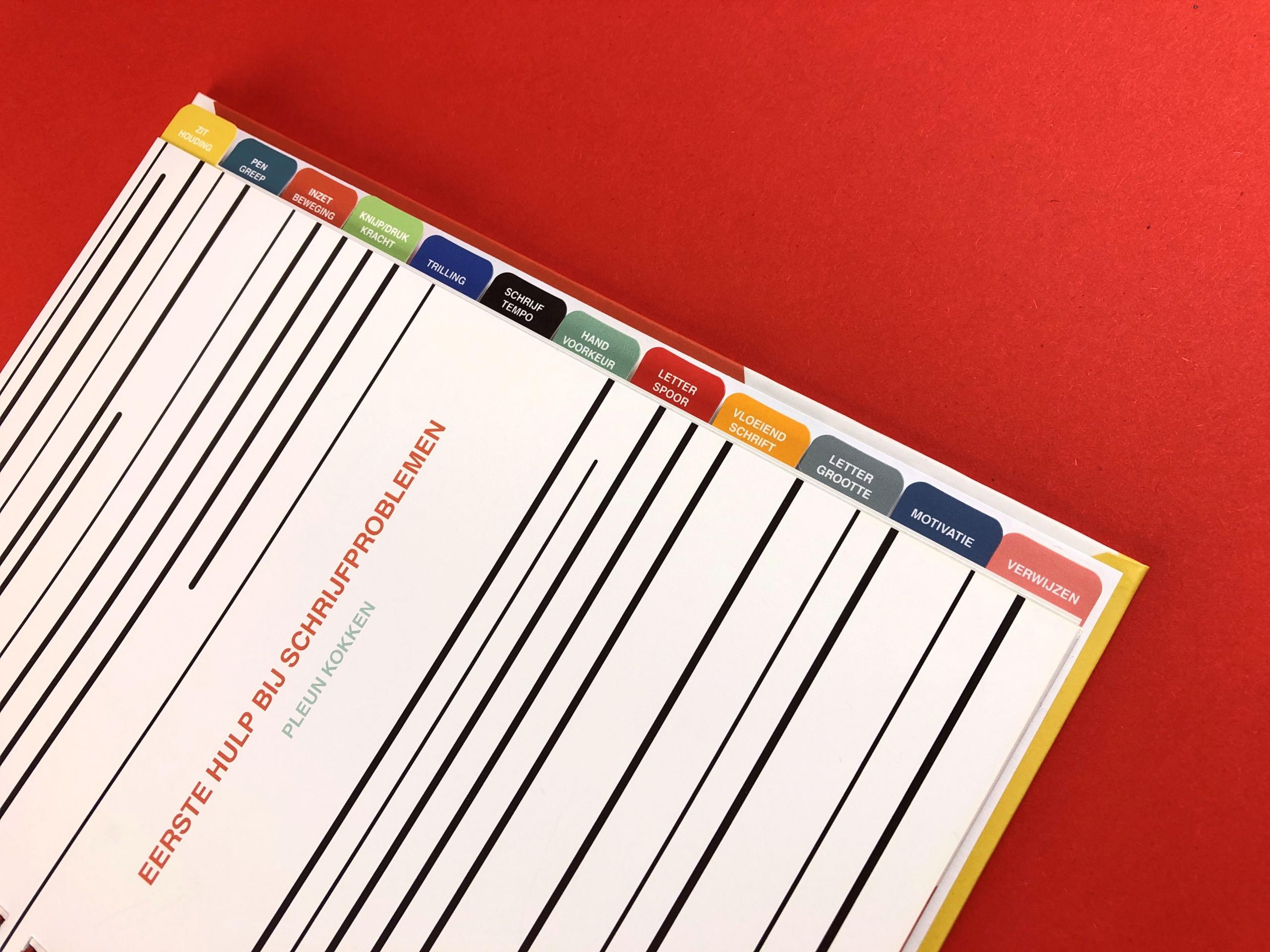 mijndrukker.nl - Hardcover Wire-O, 'Eerste Hulp Bij Schrijfproblemen' - Tabbladenset