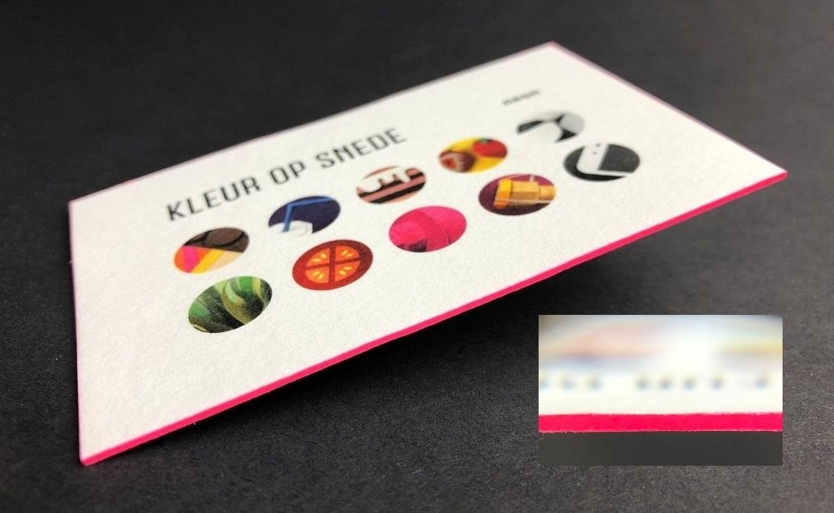 mijndrukker.nl - Visitekaartjes met Volledig Gekleurde Zijkanten of wel Kleur op Snee of Kleur op Snede